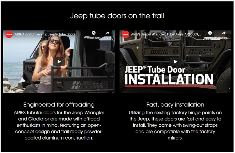 jeep wrangler tube doors