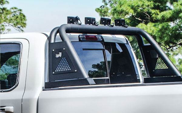 roll bar installed on a pickup
