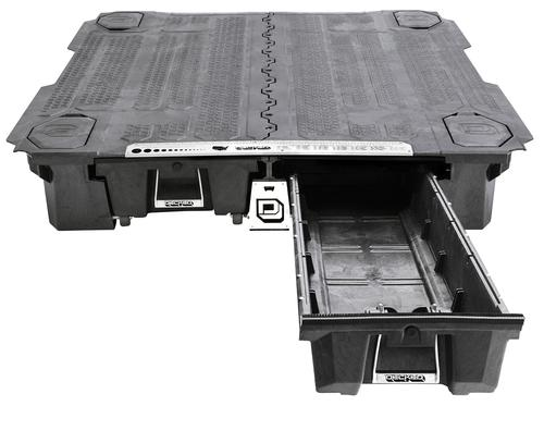 close up of truck bed storage toolbox